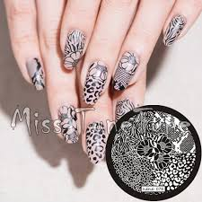Nail Art Lace Design Aliexpress Com Buy New Stamping Plate Hehe76 Nail Art Template