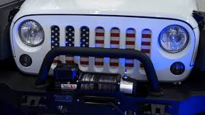 jeep american flag jeep wrangler jk under the sun inserts grille insert distressed