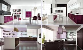 beautiful kitchens in purple color scheme with modern cabinetry