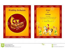 Hindu Wedding Invitation Card Indian Wedding Invitation Card Stock Vector Image 48582428
