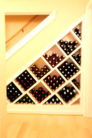 bathroom exciting under stair wine rack plans for stairs shelves