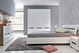 Grey Gloss Bedroom Furniture Bedroom Furniture Set Polish Black Red White Modern Furniture