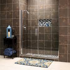 swing shower doors with inline panels