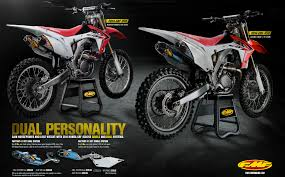 motocross news 2014 fmf introduces the 2014 honda crf250r factory 4 1rct systems