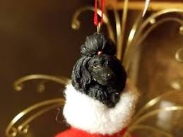 Christmas Yard Decorations Poodle by Poodle Ornament Ebay