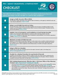 mrsc opma and pra practice tips and checklists