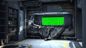 spaceship bedroom scifi spaceship bedroom video background green screen hi res
