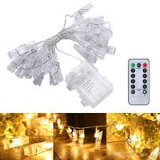 photo hanging clips 5m 40 led photo hanging clips string light battery operated remote