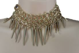 gothic jewelry necklace images Gold metal multi spikes ny hip hop choker necklace sexy gothic jpg