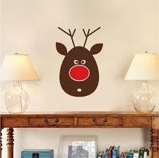 reindeer decal sticker santa reindeer decoration mural santa zoom