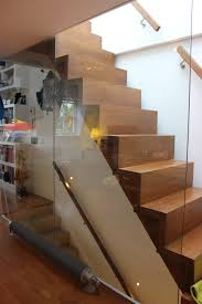 oak staircase with glass flank wall u2013 ivy ngeow architecture and