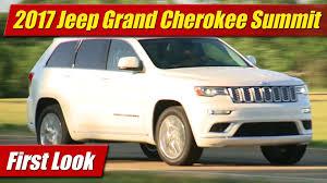 jeep summit 2016 first look 2017 jeep grand cherokee summit testdriven tv