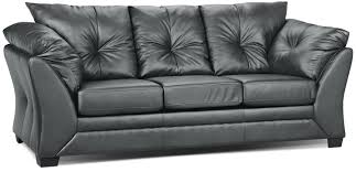Max Faux Leather Sofa Grey The Brick - Full leather sofas
