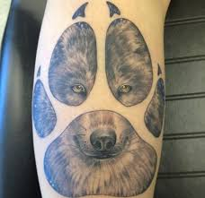 100 paw print tattoo meaning grizzly bear paw print tattoo