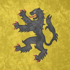 Lion Flag County Of Flanders Grunge Flag 1163 1795 By Undevicesimus On