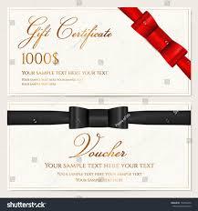 Black Card Invitation Voucher Gift Certificate Coupon Invitation Gift Stock Vector