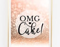rose gold candy table cake table sign etsy