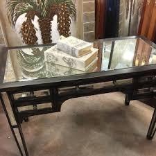 isla mirrored writing desk arhaus furniture