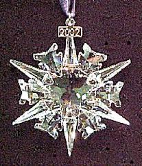 swarovski 2002 annual snowflake ornament stella