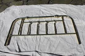 Paint A Headboard by Painting On Brass Redesigned By M