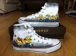 Minion Socks Adults Shoes Minions Converse Minions Custom Shoes High Top Converse