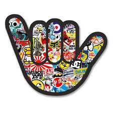 jdm sticker bomb 2 x sticker bomb hand vinyl sticker 6172 u2013 destination vinyl ltd