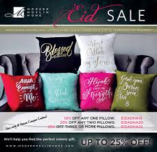 48 hour pillow flash sale for eid modern muslim home