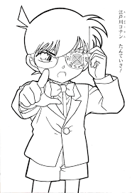 detective conan coloring pages coloring pages