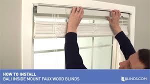 American Drapery And Blinds How To Install Bali Real Wood And Faux Wood Blinds Inside Mount