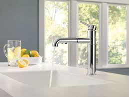 Single Lever Pull Out Kitchen Faucet by Delta Trinsic Kitchen Single Handle Pull Out Standard Kitchen