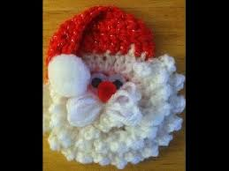 como hacer la cara de papa noel a crochet tejemos