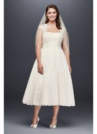 plus size country wedding dresses tea length plus size wedding dress with shrug david s bridal