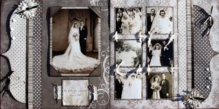 scrapbook for wedding vintage wedding scrapbook page kit scraptique inc