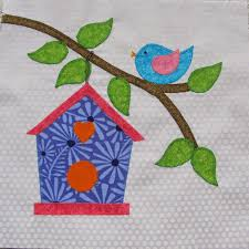 birdhouse quilt pattern stitching with 2 strings quilt along block 8 birdhouse
