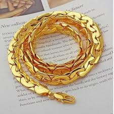 gold filled chain necklace images Fashion jewelry necklace 6mm 500mm 18k yellow gold filled chain JPG