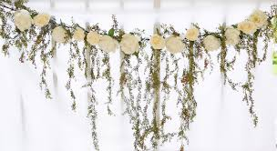 wedding arch garland wedding arch garland cascading greenery and roses silk