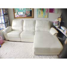 cellini ivory white leather sectional sleeper sofa sofas