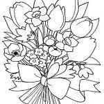 150 dibujos flores imprimir colorear