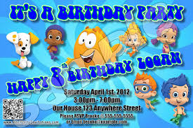 3 impressive best bubble guppies birthday party invitations