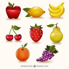 imagenes gratis de frutas y verduras paquete de frutas de colores vector gratis frutas pinterest