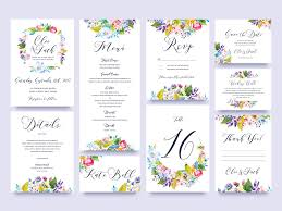wedding invitation sets free flower wedding invitation set graphic delivery