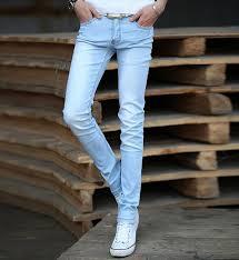mens light blue jeans skinny 2018 wholesale new 2016 mens light blue jeans straight denim long