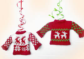 new in the store tacky sweater ornaments