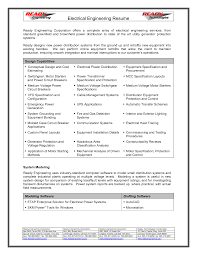 Resume Format Pdf For Electrical Engineer by Resume Sample Electrical Engineering
