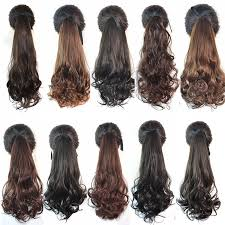 different hair buns heat resistance fiber 6 different styles 60cm fashion