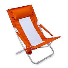 folding hammock beach chair in orange bed bath u0026 beyond