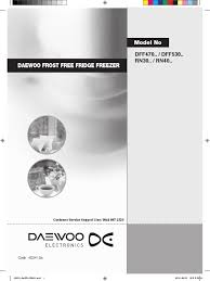 download daewoo daewoo frost free fridge freezer docshare tips