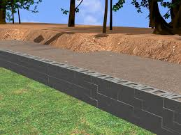 Garden Retaining Wall Blocks by How To Construct A Block Retaining Wall 14 Steps With Pictures