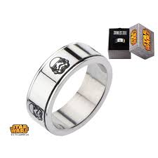 mens spinner rings disney wars men s stainless steel stormtrooper spinner