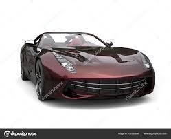 voiture de sport de sport moderne avec peinture métallisée bicolore rouge et